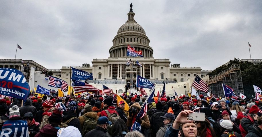 Trump supporters storm the U.S. Capitol following a rally with President Donald Trump on Wednesday in Washington, D.C.