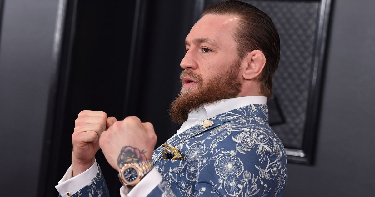 Conor McGregor arrives at the 62nd annual Grammy Awards at the Staples Center on Jan. 26, 2020, in Los Angeles.