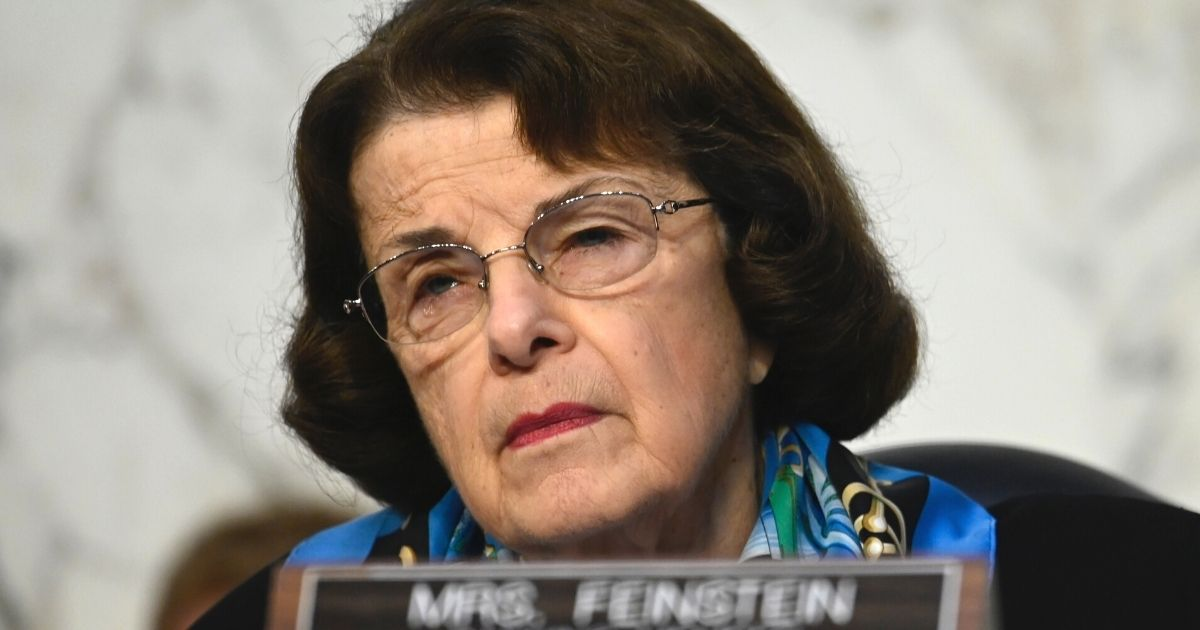 Democratic Sen. Dianne Feinstein of California listens during Supreme Court nominee Amy Coney Barrett's confirmation hearings before the Senate Judiciary Committee on Capitol Hill in Washington on Oct. 14.
