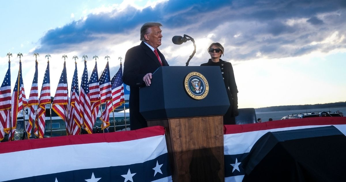 President Donald Trump speaks at Joint Base Andrews, Maryland, prior to boarding Air Force One to head to Florida on Wednesday.