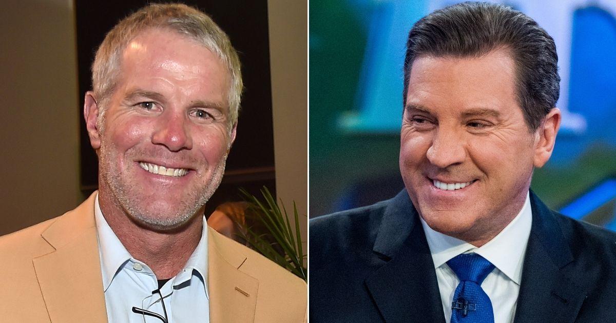 NFL Hall of Famer Brett Favre, left, and former Fox News Eric Bolling, right.