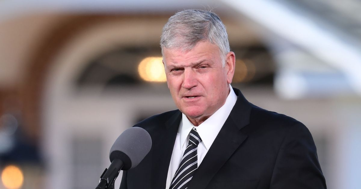 The Rev. Franklin Graham delivers the eulogy during the funeral of his father, the Rev. Billy Graham, in Charlotte, North Carolina, on March 2, 2018.