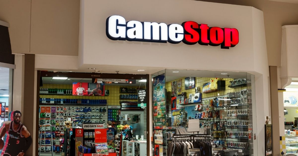 A GameStop location is pictured in the stock image above.
