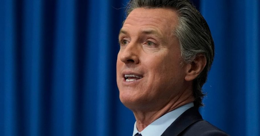 California Gov. Gavin Newsom speaks during a news conference in Sacramento on Jan. 8.