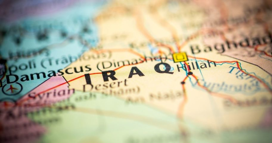 A map of Iraq is pictured in the stock image above.
