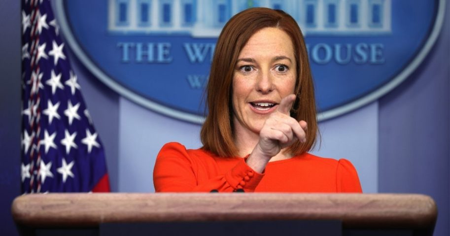 White House Press Secretary Jen Psaki speaks during a media briefing at the James Brady Press Briefing Room of the White House in Washington, D.C., on Thursday.