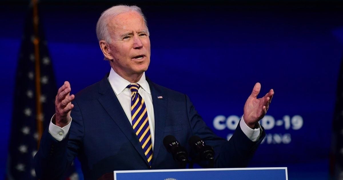 President-elect Joe Biden delivers remarks on the ongoing coronavirus pandemic at the Queen Theater on Tuesday in Wilmington, Delaware.