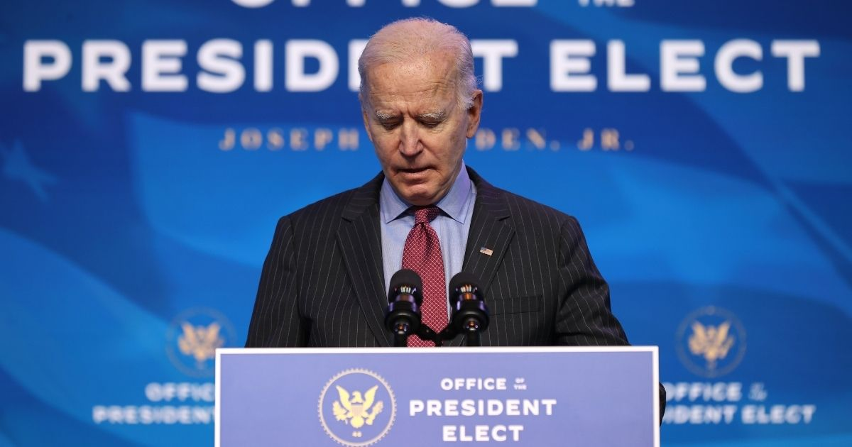 U.S. President-elect Joe Biden delivers remarks before announcing members of his cabinet that will round out his economic team, including secretaries of commerce and labor at The Queen theater on Friday in Wilmington, Delaware.