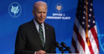 President-elect Joe Biden speaks during an announcement Saturday at the Queen theater in Wilmington, Delaware.