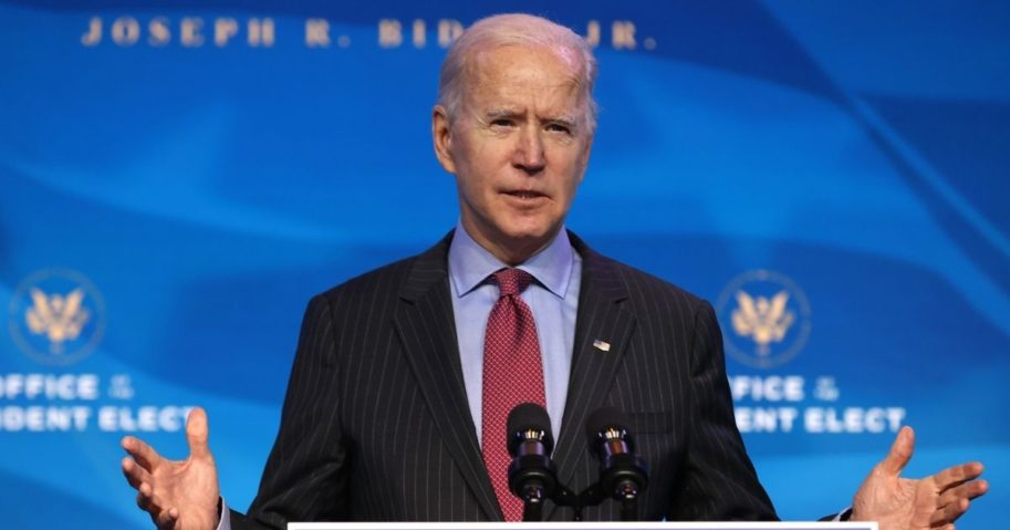 President-elect Joe Biden delivers remarks before announcing members of his Cabinet that will round out his economic team at The Queen theater in Wilmington, Delaware, on Friday.