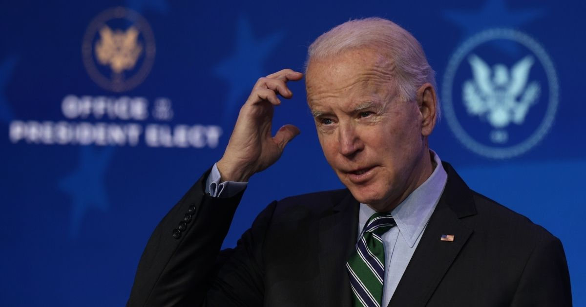 President-elect Joe Biden speaks during an announcement at The Queen theater in Wilmington, Delaware, on Saturday.