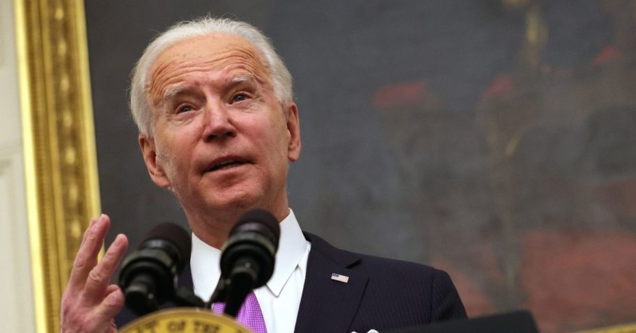 President Joe Biden speaks during an event in the State Dining Room of the White House in Washington, D.C., on Thursday.