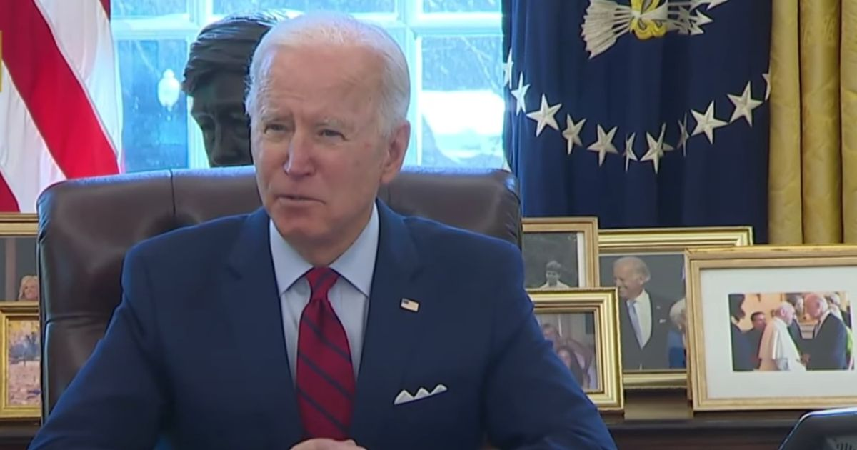 Joe Biden had to consult his notecards before describing the second of two executive orders he was about to sign Thursday.