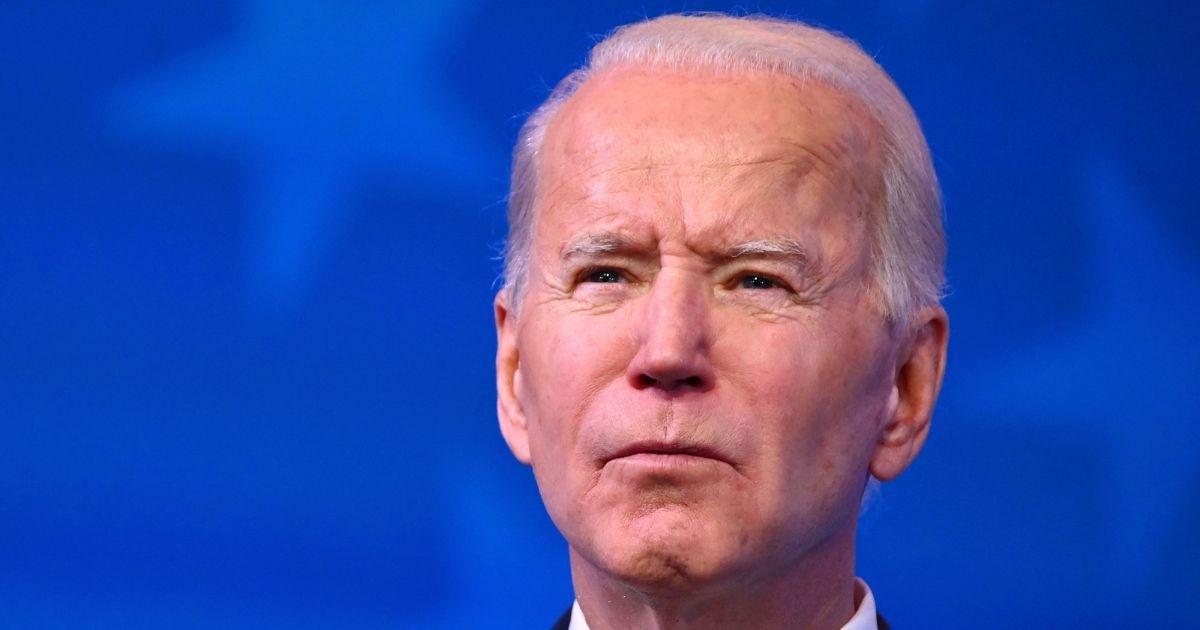 President-elect Joe Biden speaks at the Queen Theater in Wilmington, Delaware, on Friday.
