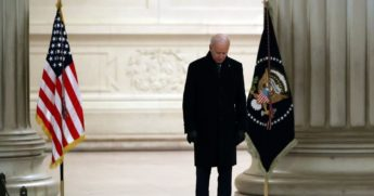 President Joe Biden speaks at the Lincoln Memorial on Wednesday in Washington, D.C.