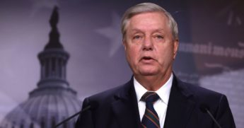 Sen. Lindsey Graham speaks during a news conference at the U.S. Capitol Jan. 7, 2021 in Washington, D.C.