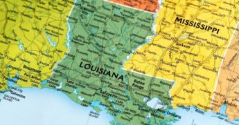 A map of Louisiana is seen in the stock image above.