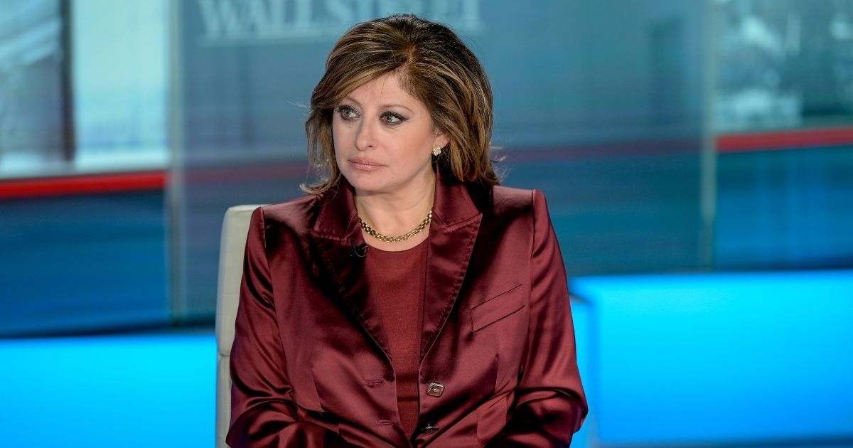 """Host Maria as Bartiromo Merrill & Bank Of America Private Bank CIO Chris Hyzy visits """"Maria Bartiromo's Wall Street"""" at Fox Business Network Studios on Jan. 10, 2020, in New York City."""