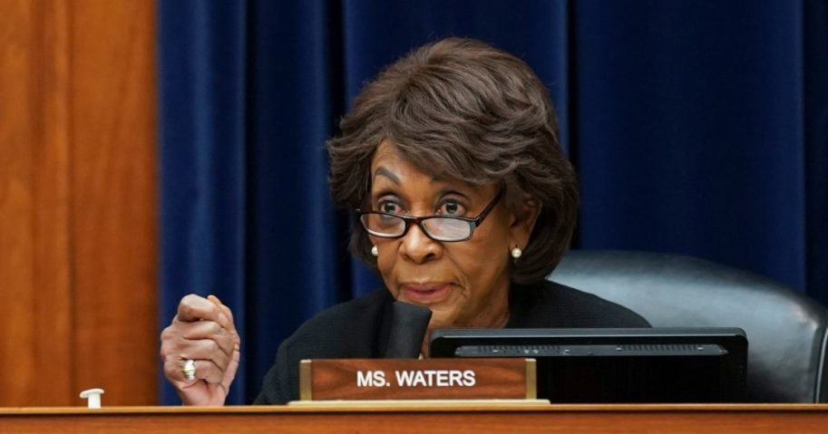 Democratic Rep. Maxine Waters of California speaks during a House Select Subcommittee on the Coronavirus Crisis hearing on Sept. 23, 2020, in Washington, D.C.