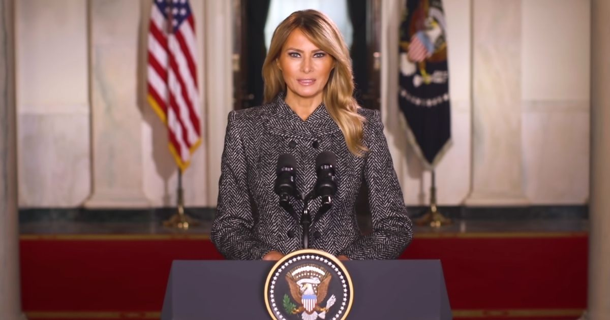 First lady Melania Trump said her time in the White House has been 'the greatest honor' of her life in her farewell address on Monday.