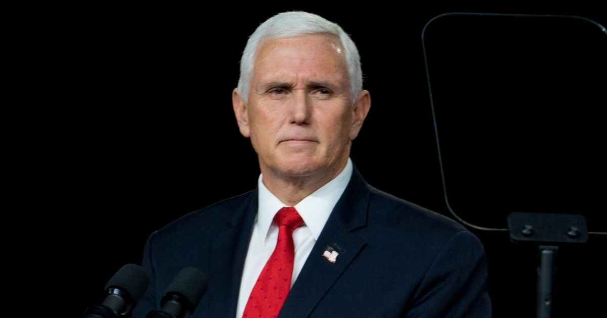 Vice President Mike Pence speaks during a visit to Rock Springs Church in Milner, Georgia, on Jan. 4 to campaign for GOP Senate candidates.
