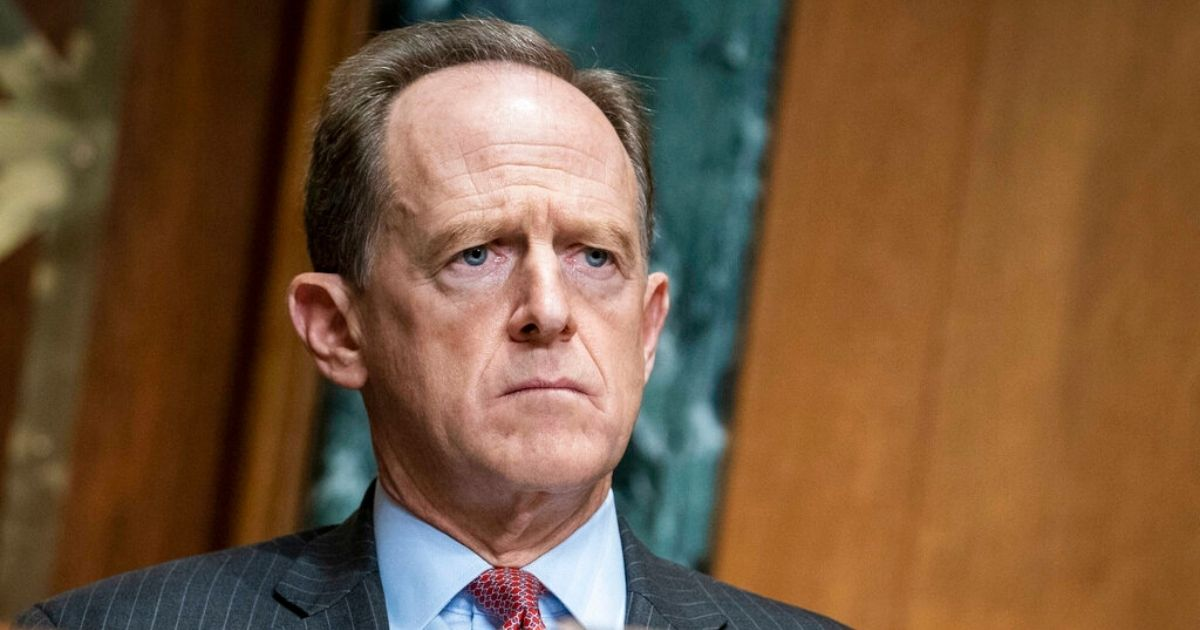 Republican Sen. Pat Toomey, questions Treasury Secretary Steven Mnuchin during a Congressional Oversight Commission hearing on Capitol Hill in Washington D.C on Dec. 10, 2020.