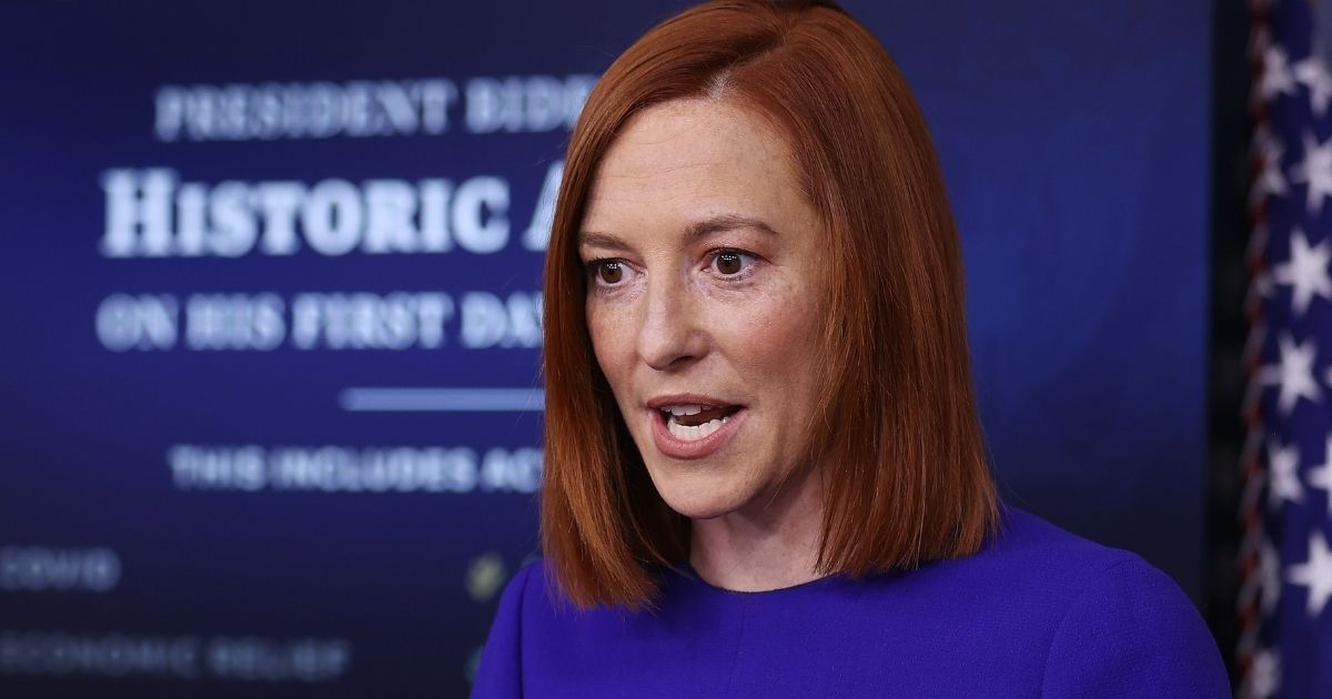Jen Psaki speaks during her first news conference as the Biden administration's press secretary Wednesday in the Brady Press Briefing Room at the White House in Washington.