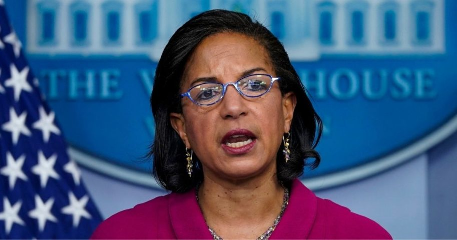 Domestic policy adviser Susan Rice speaks during the daily media briefing at the White House in Washington, D.C., on Tuesday.