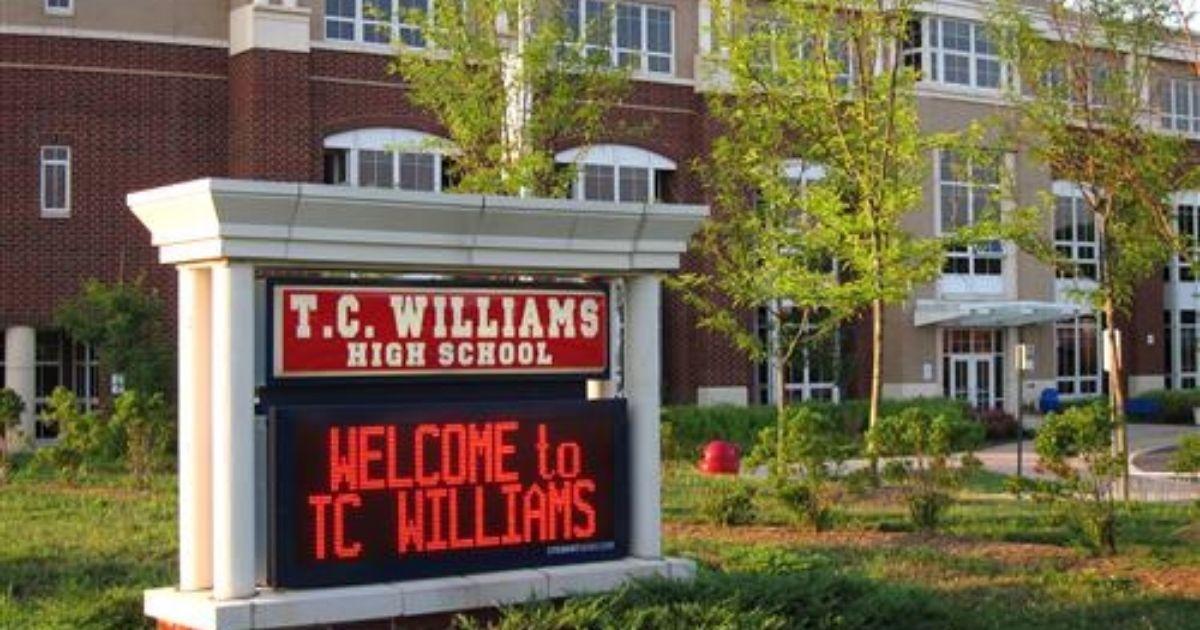 T.C. Williams High School is seen above.