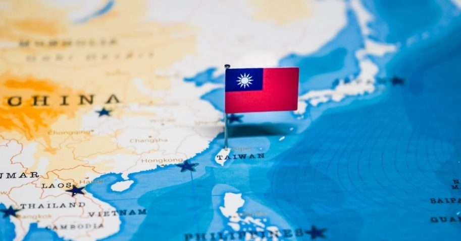 A map of Asia with the flag of Taiwan is pictured in the stock image above.