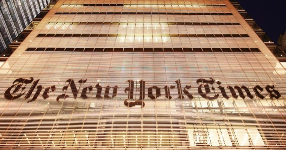 The New York Times building is shown in New York City on Oct. 21, 2009.