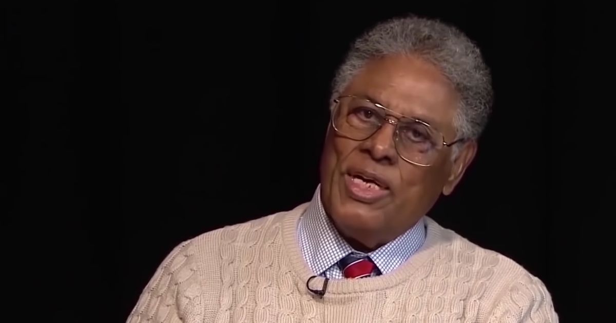 Economist and philosopher Thomas Sowell is pictured during an interview.