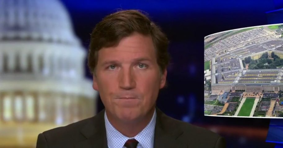 Tucker Carlson reflects on the presence of military members in Washington, D.C., for Joe Biden's inauguration in Carlson's opening commentary on the Monday edition of 'Tucker Carlson Tonight.'