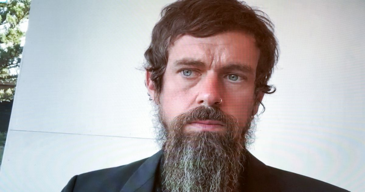 Twitter CEO Jack Dorsey is pictured in a file photo from Senatetestimony in October.