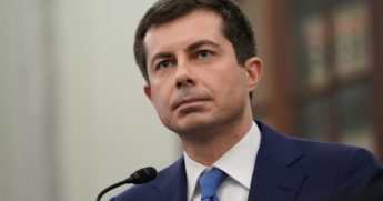 Secretary of Transportation nominee Pete Buttigieg listens during a Senate confirmation hearing in Washington, D.C., on Jan. 21, 2021.