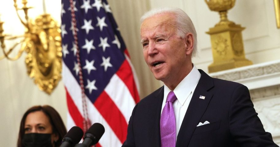 President Joe Biden, pictured in the White House State Dining Room on Thursday.