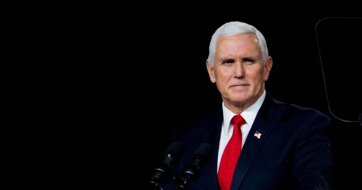 U.S. Vice President Mike Pence speaks