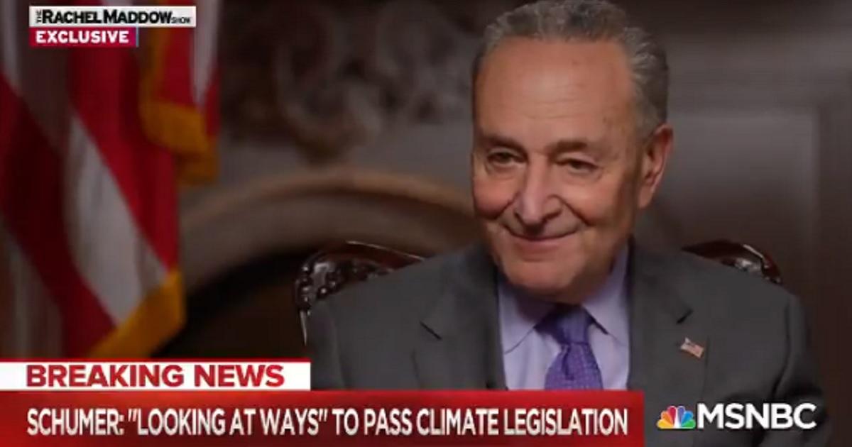 Senate Majority Leader Chuck Schumer appears Monday on MSNBC.
