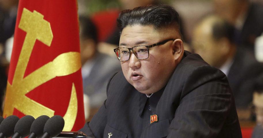 Kim Jong Un attends a ruling party congress in Pyongyang, North Korea, on Jan. 6, 2021.