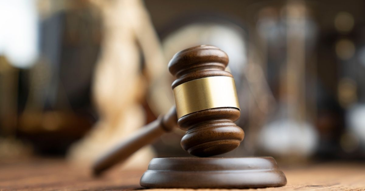 A gavel is seen in this stock image.