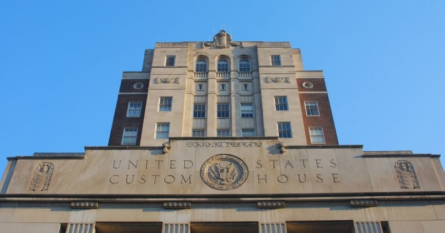 The Philadelphia Customs House is seen in this stock image.