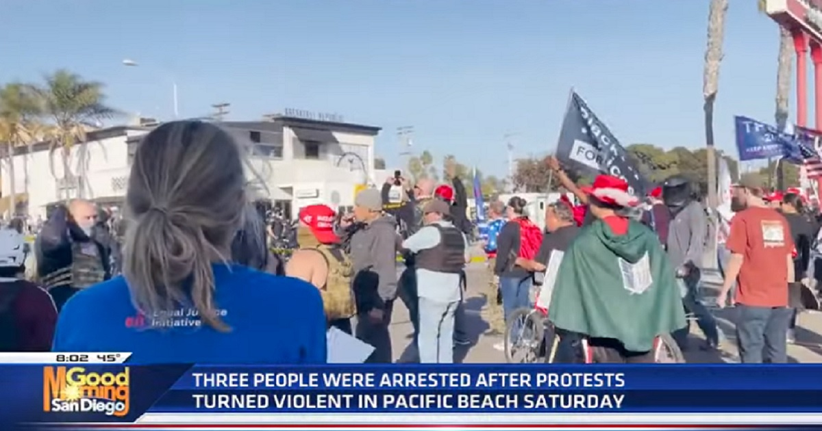 President Donald Trump supporters gathered in San Diego on Saturday, but their march was disrupted Black Lives Matter and antifa demonstrators.