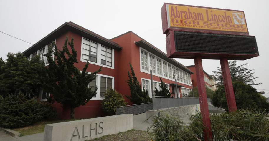 Abraham Lincoln High School is seen on March 12, 2020, in San Francisco.