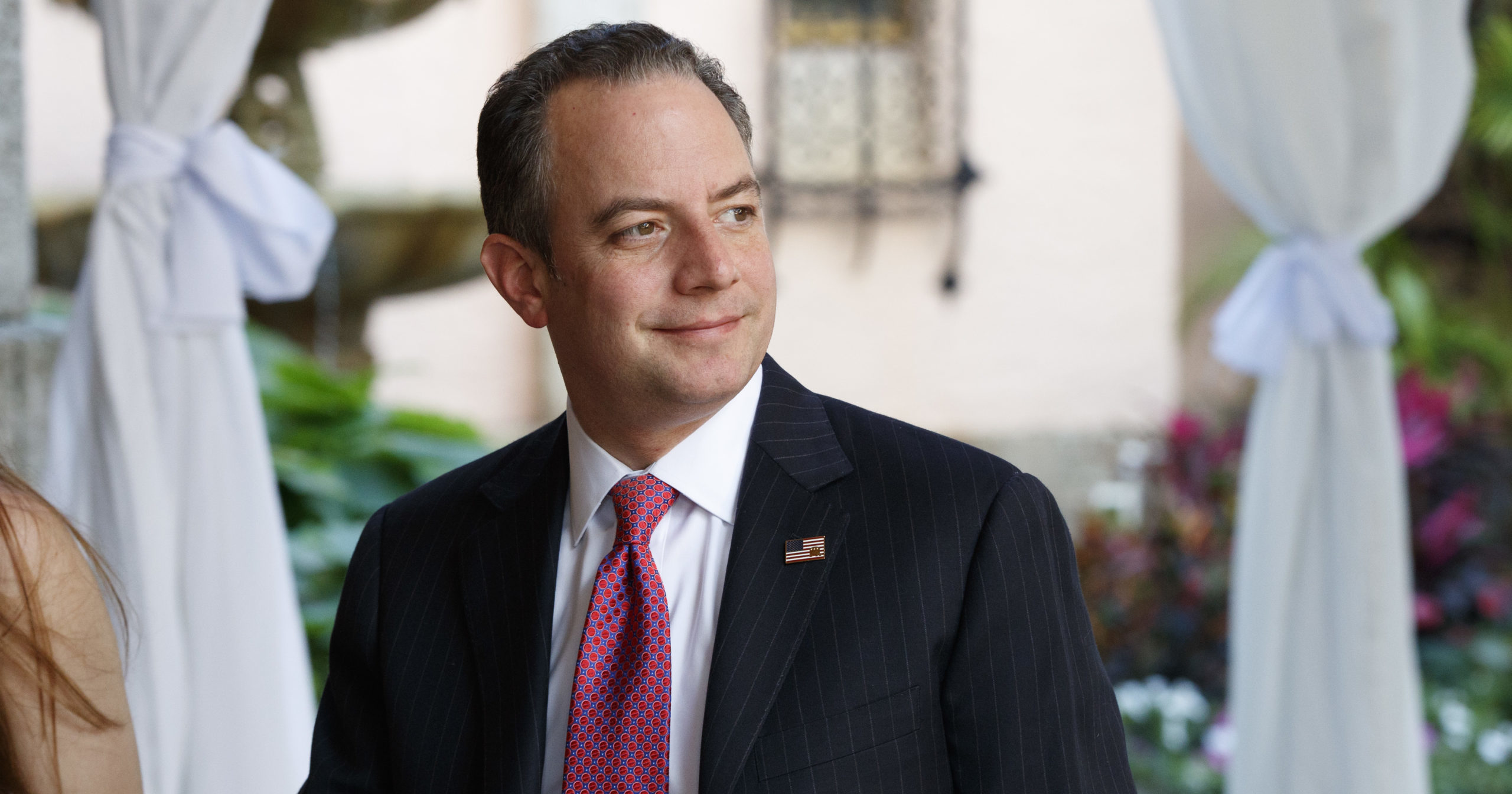 Reince Priebus, then chief of staff for President-elect Donald Trump, arrives at Mar-a-Lago in Palm Beach, Florida, on Dec. 28, 2016.