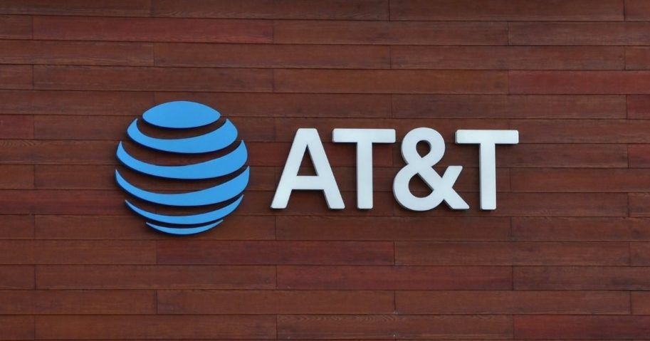 The AT&T logo is pictured in the stock image above.