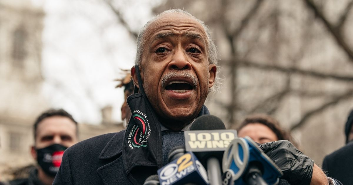 The Rev. Al Sharpton speaks at a news conference in lower Manhattan on Dec. 30, 2020, in New York City.