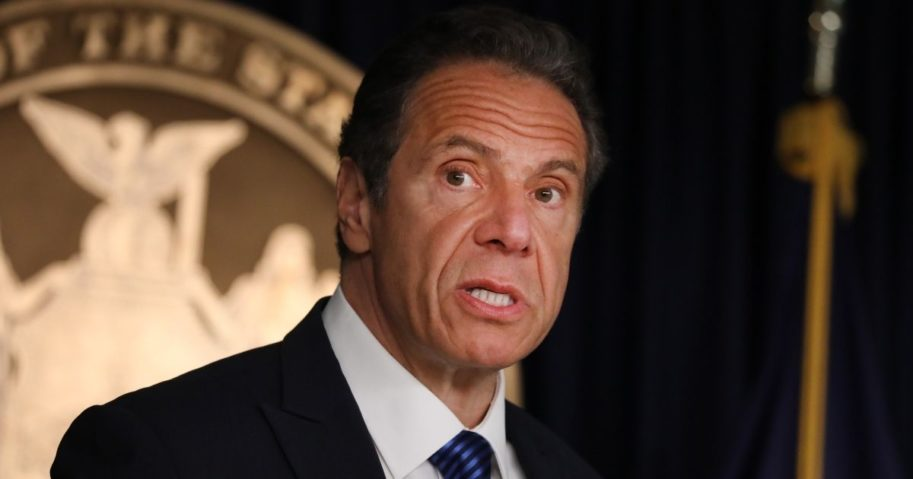 New York Gov. Andrew Cuomo speaks to members of the media at a news conference on May 21, 2020, in New York City.