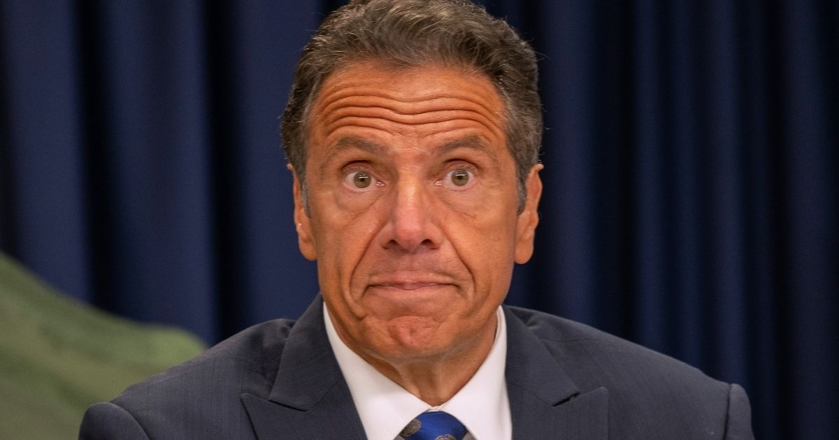 New York Gov. Andrew Cuomo speaks during a COVID-19 briefing in New York City on July 6.