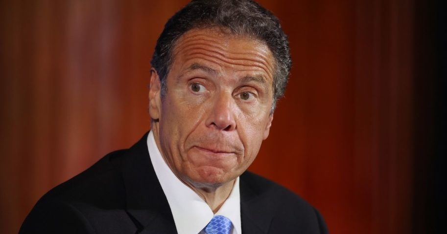 New York Gov. Andrew Cuomo holds a news conference at the National Press Club in Washington on May 27.