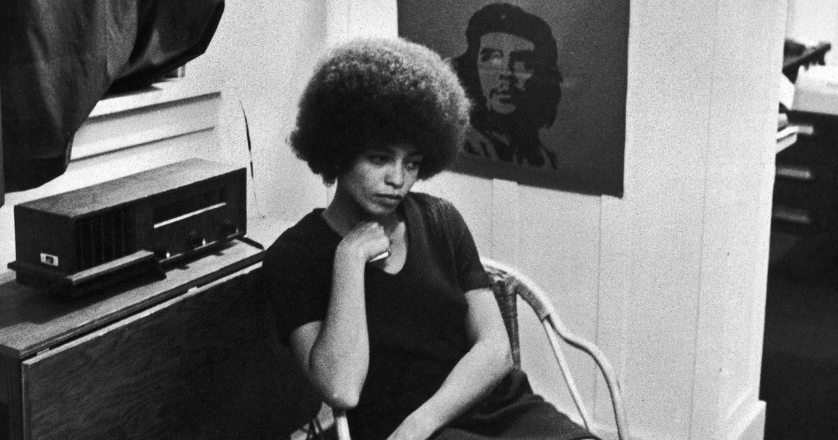 Angela Davis is seen Nov. 27, 1969, shortly after she was fired from her post as a philosophy professor at UCLA over her membership in the Communist Party of America.